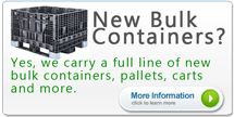 Reusable Plastic Bulk Containers Pallets Carts Handheld Totes