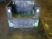 Used 40x48x34 Plastic Bulk Bin - Front View w/drop door down