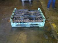 Used 40x48x34 Plastic Bulk Container - Collapsed