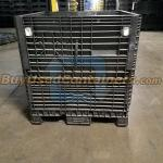 Used 45x48x50 Collapsible Bulk Container w/no drop doors - Front View