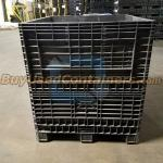 Used 45x48x50 Collapsible Bulk Container w/no drop doors - Side View