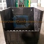 Used 45x48x50 Collapsible Bulk Container w/no drop doors - Front View w/one wall collapsed