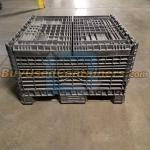Used 45x48x50 Collapsible Bulk Container w/no drop doors - Collapsed View