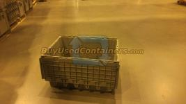 Used 28x21x15 Attached Lid Distribution Totes