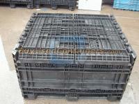 Used 45x48x48 Plastic Bulk Container - Collapsed