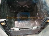 Used 45x48x48 Plastic Bulk Container - Inside View
