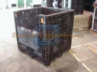 Used 45x48x48 Plastic Bulk Container - Side View