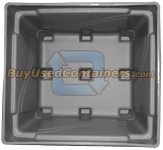 48x44x39 Fixed Wall Bulk Container - 4-Way Entry - Inside View