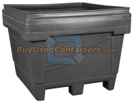 48x44x39 Fixed Wall Bulk Container - 2-Way Entry - Outside View