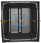 48x44x36 Fixed Wall Bulk Container - 2-Way Entry - Inside View