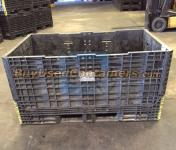 70x48x34 Plastic Collapsible Bulk Container - Side View