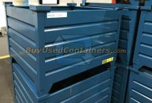 ** SOLD ** Steel corrugated stackable container ** SOLD **