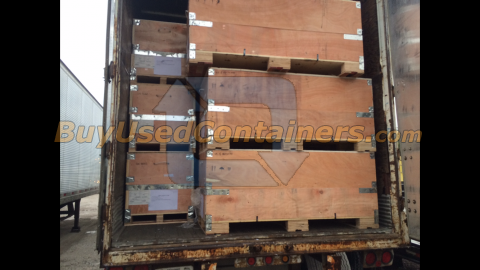 Used 60x24x23 Heavy Duty Wooden Shipping Crates Buy Used
